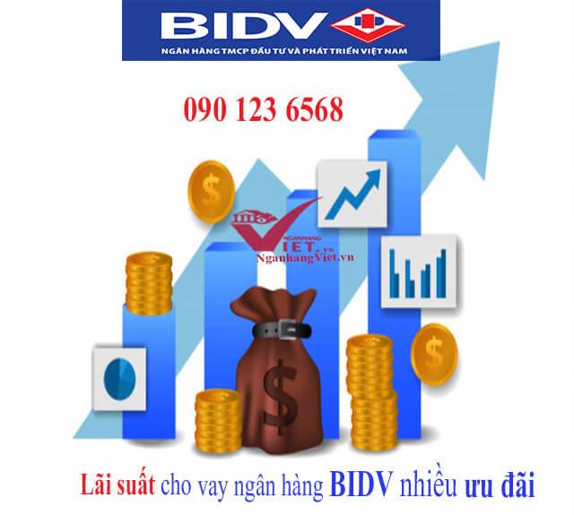 Lãi suất cho vay ngân hàng BIDV