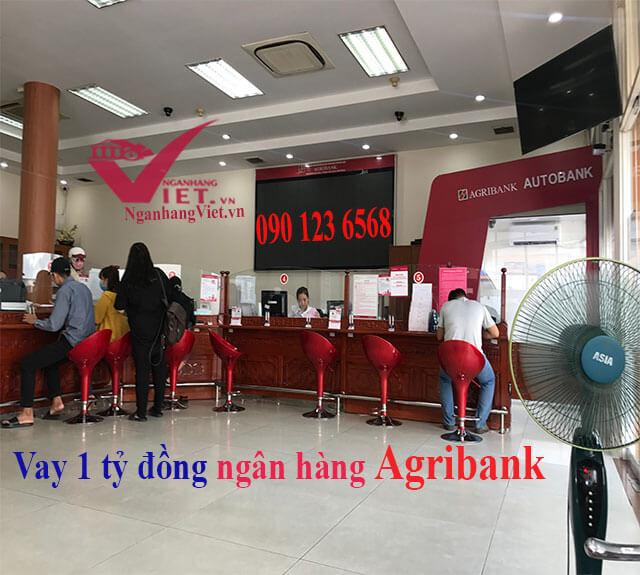 Vay 1 tỷ thế chấp sổ đỏ ngân hàng Agribank