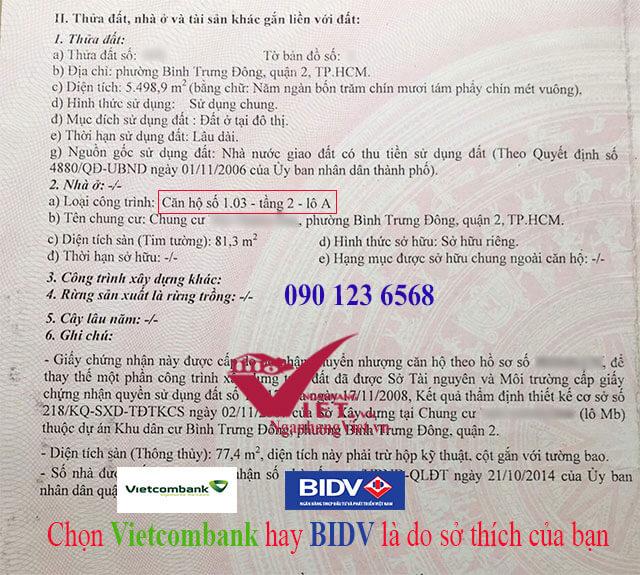 Vay mua chung cư Vietcombank hay BIDV là do sở thích